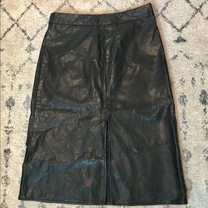 Forever 21 Faux Maxi Leather Skirt-Sz. S